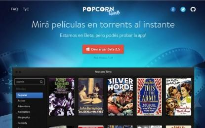 El servicio de streaming Popcorn Time vuelve a estar disponible