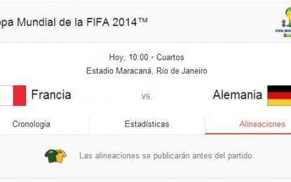 Cuartos de Final Copa del Mundo 2014: los partidos del 4 de julio