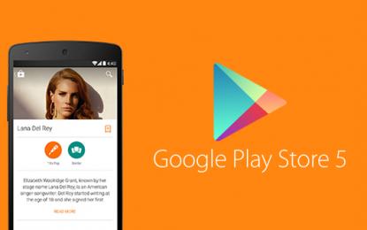 Actualizada Play Store a versión 5.0.37 con Material Design