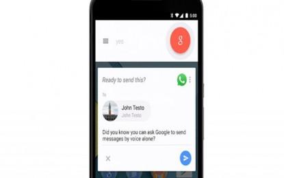 Google Permitira enviar mensajes de WhatsApp sin usar los dedos