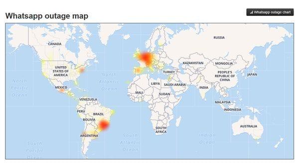 El mapa muestra qué países son los más afectados hasta el momento